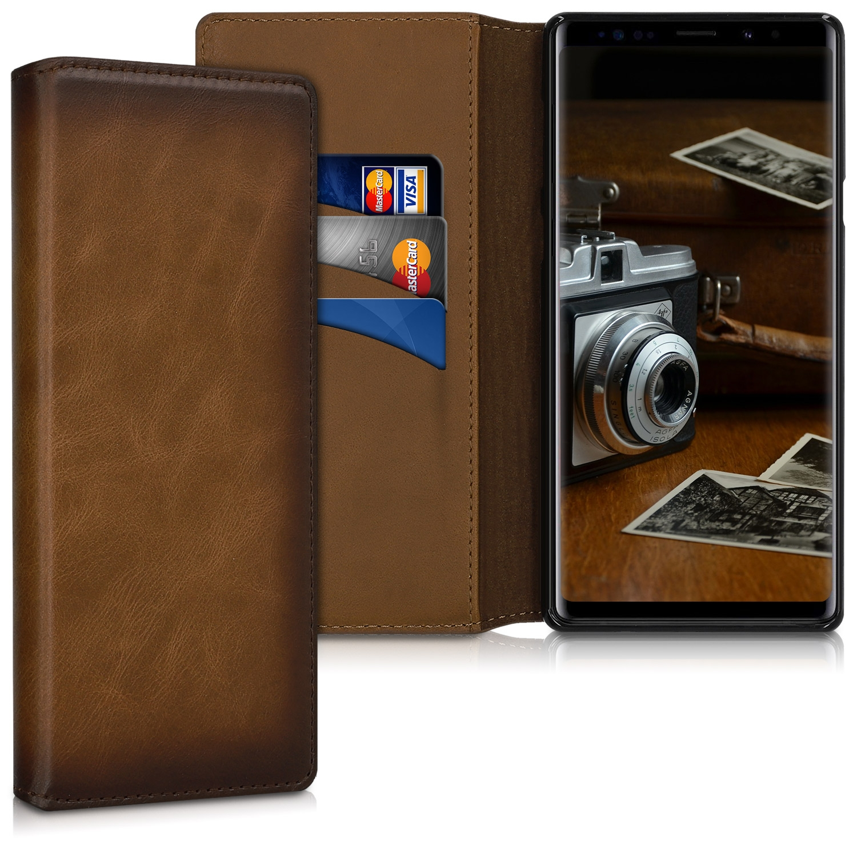 Kalibri Δερμάτινη Θήκη - Πορτοφόλι Samsung Galaxy Note 9 - Vintage Brown (47107.133)