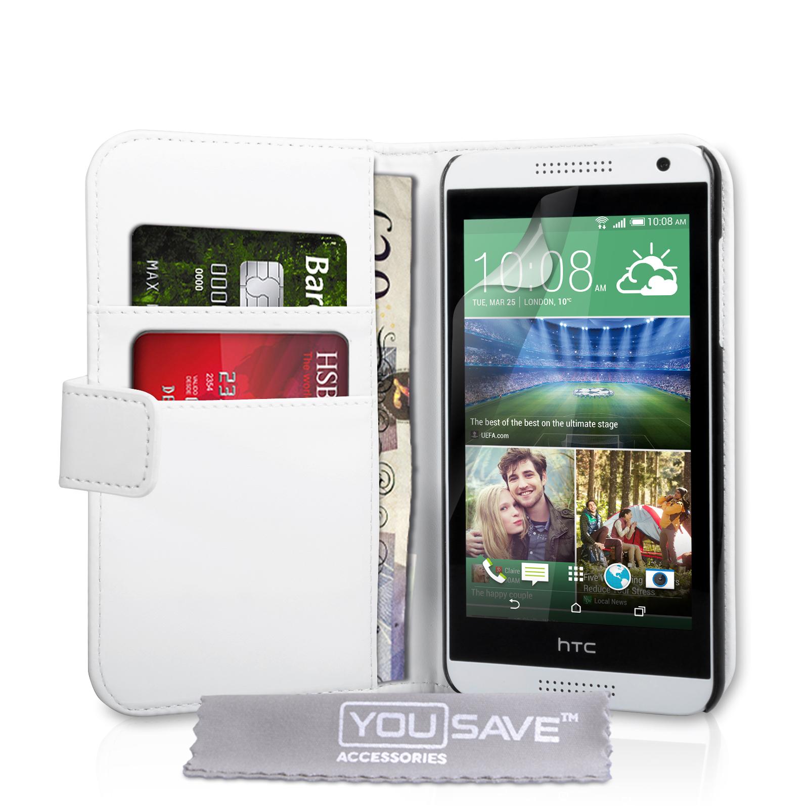 Θήκη HTC Desire 610 - Πορτοφόλι by YouSave (Z449) μόδα