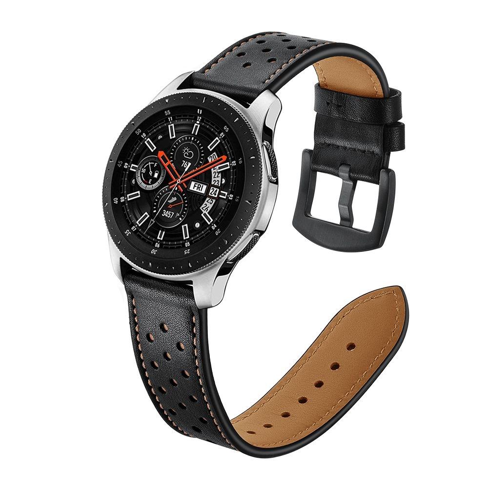 Ανταλλακτικό Δερμάτινο Λουράκι Samsung Galaxy Watch 46mm - Black (14425) - OEM