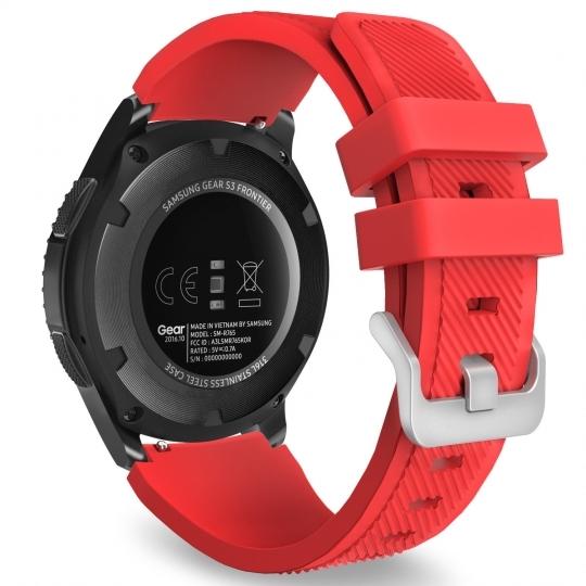 Ανταλλακτικό Λουράκι Σιλικόνης Samsung Galaxy Watch 46mm - Red (14414) - OEM