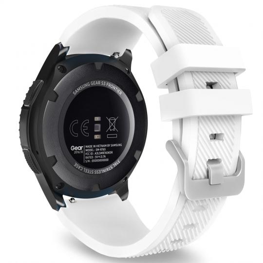 Ανταλλακτικό Λουράκι Σιλικόνης Samsung Galaxy Watch 46mm - White (14416) - OEM