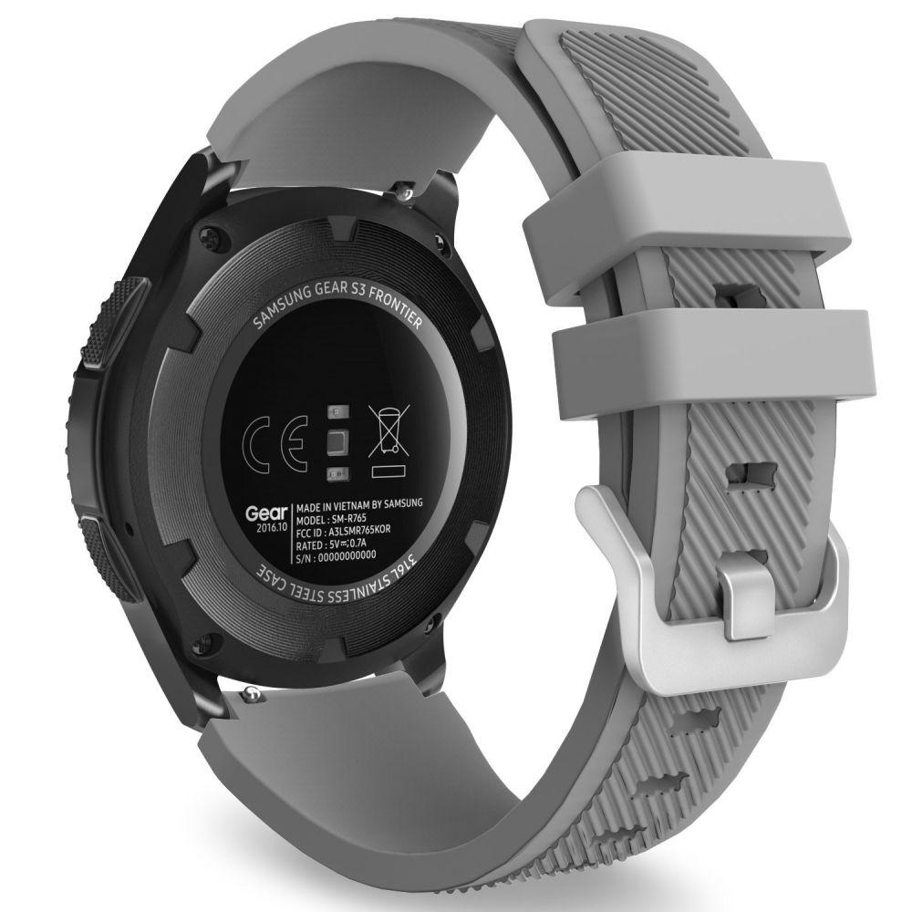 Ανταλλακτικό Λουράκι Σιλικόνης Samsung Galaxy Watch 46mm - Gray (14413) - OEM