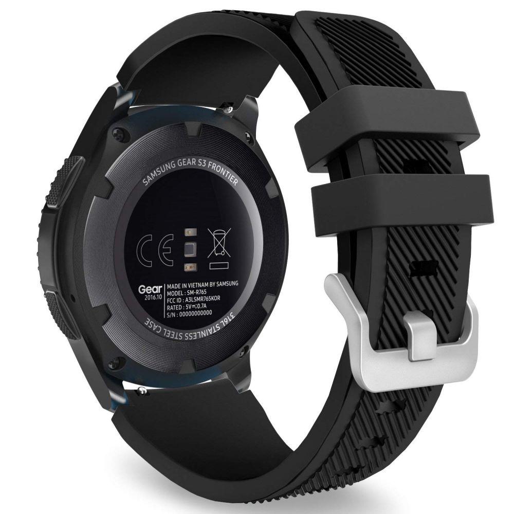 Ανταλλακτικό Λουράκι Σιλικόνης Samsung Galaxy Watch 46mm - Black (14412) - OEM