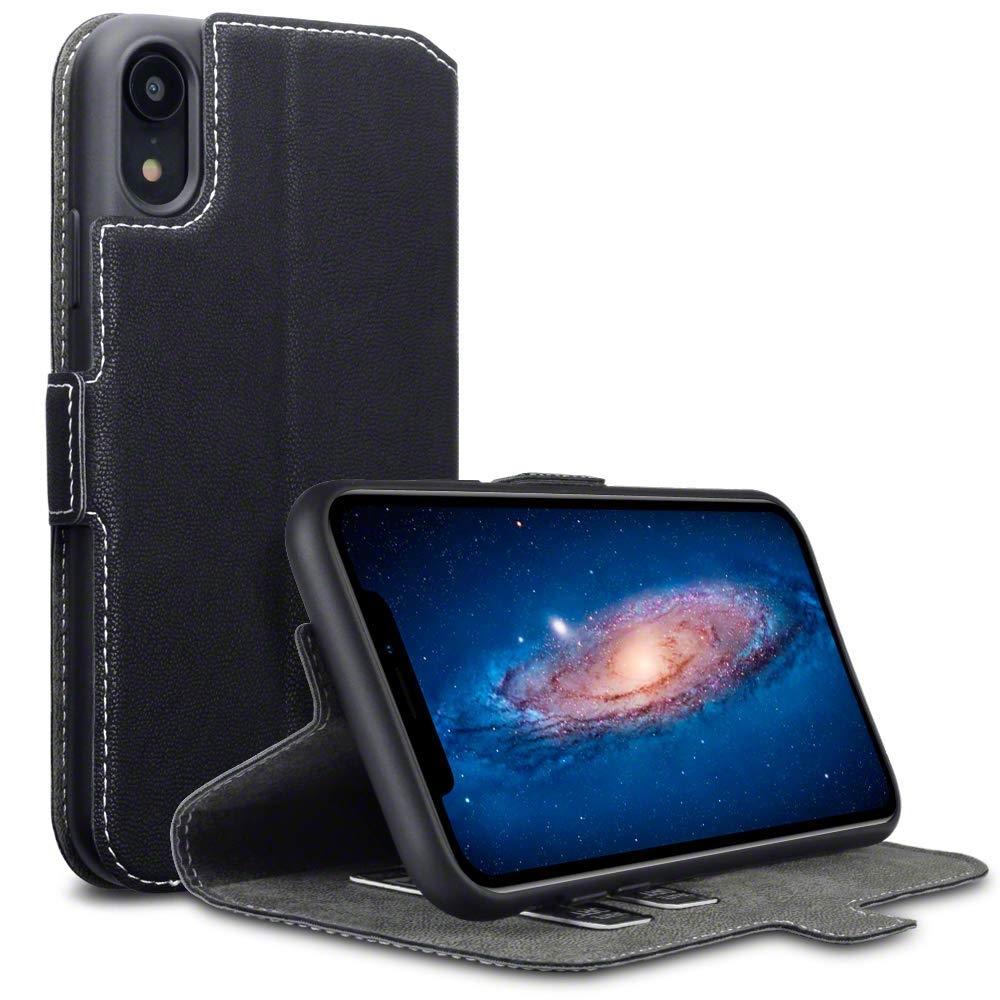 Terrapin Θήκη Low Profile Thin - Πορτοφόλι iPhone XR - Black (117-127-002)