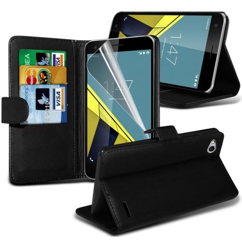 Θήκη Vodafone Smart Ultra 7 - Πορτοφόλι - Μαύρο (9671) - OEM