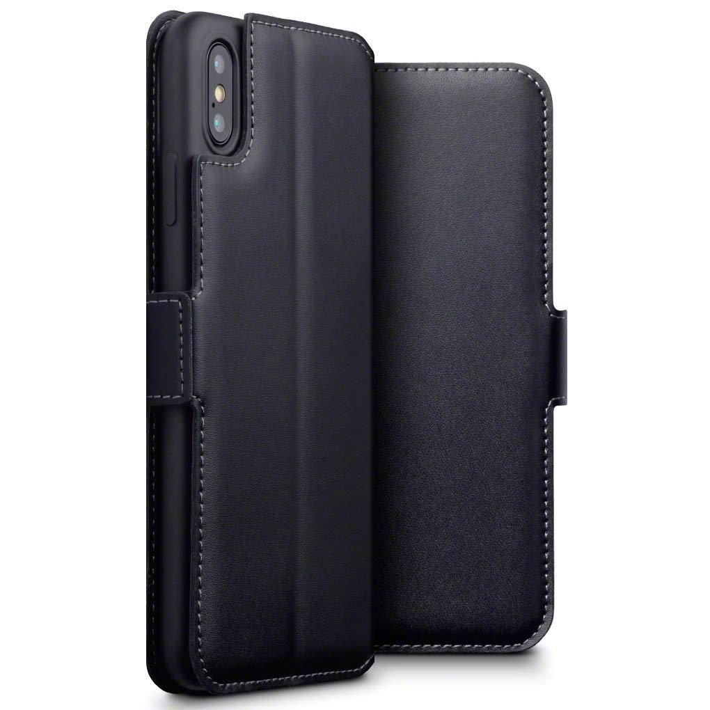 Terrapin Low Profile Δερμάτινη Θήκη - Πορτοφόλι iPhone XS Max - Black (117-126-001)