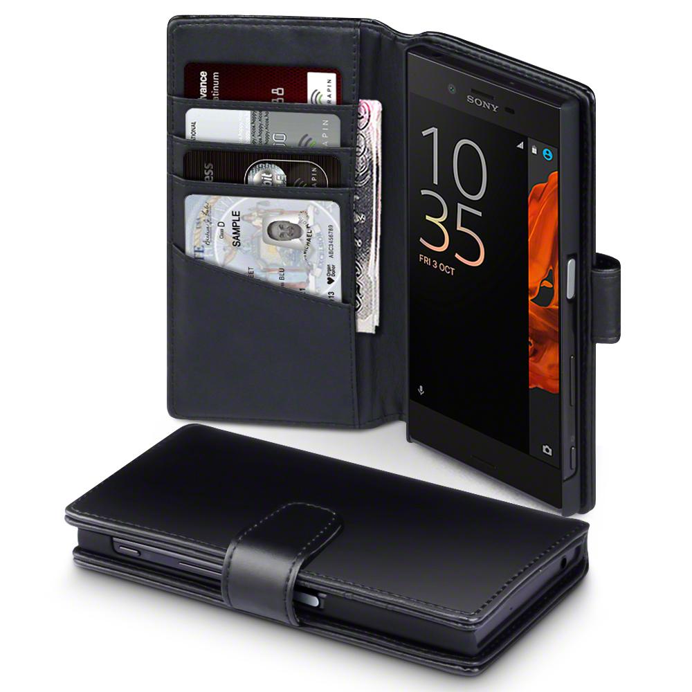 Terrapin Δερμάτινη Θήκη Sony Xperia XZ/ XZs - Πορτοφόλι (117-005-456) - Black