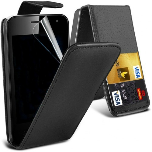 Flip Θήκη Vodafone Smart First 7 - Μαύρο (8215) - OEM