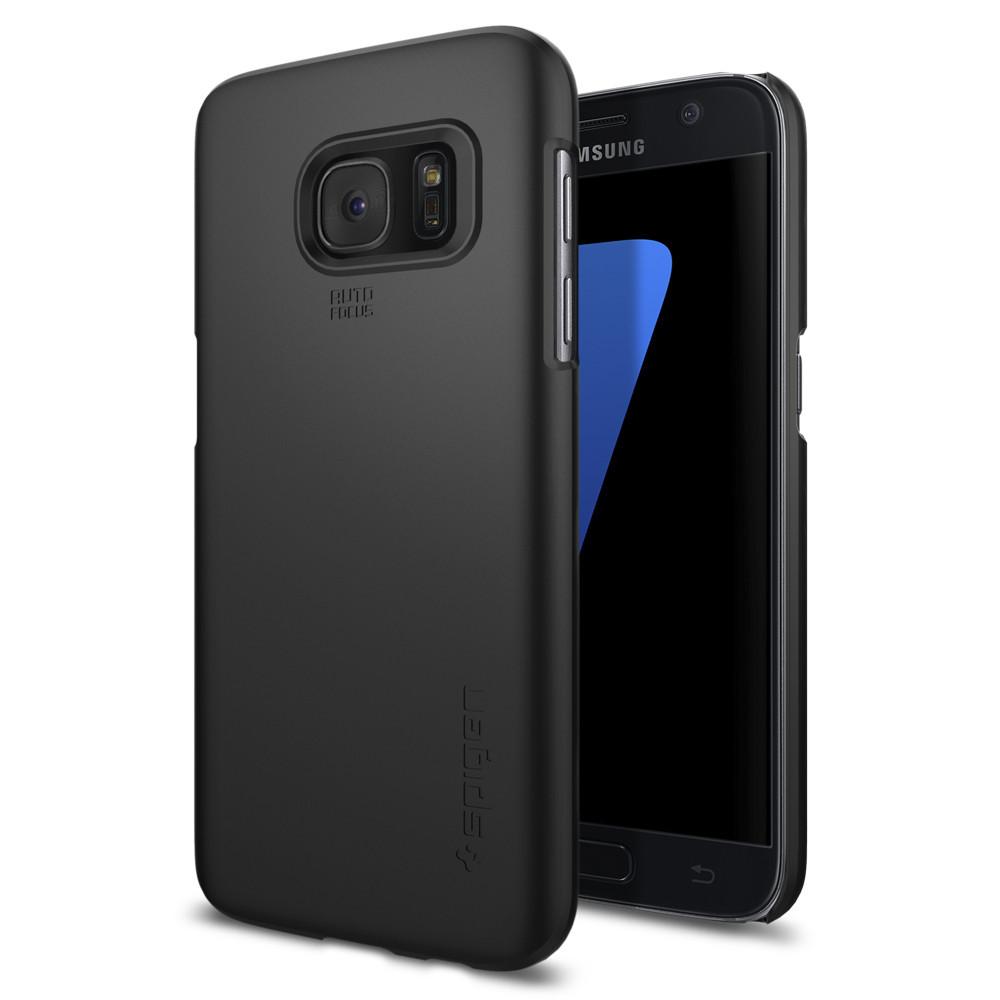 Spigen Θήκη Thin Fit Samsung Galaxy S7 - Black (555CS20003)