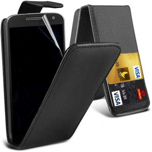 Flip Θήκη Motorola Moto G4 / G4 Plus - Μαύρο (8217) - OEM