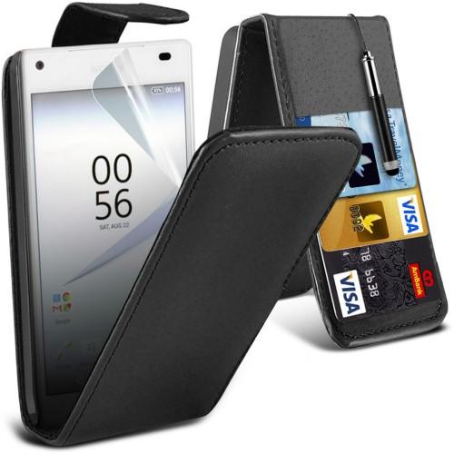 Flip Θήκη Sony Xperia Z5 (001-005-555) Μαύρο - OEM