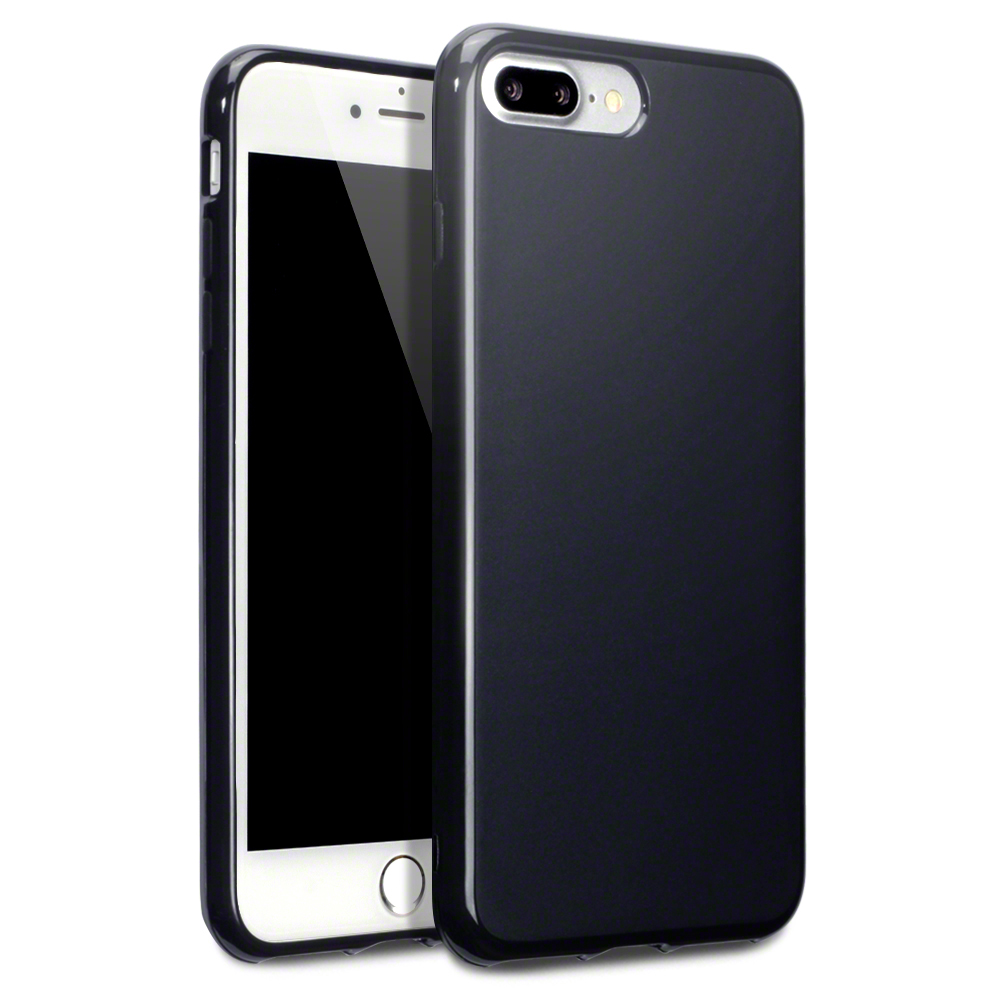 Terrapin Θήκη Σιλικόνης iPhone 8 Plus /  iPhone 7 Plus (118-123-005) - Black Matte