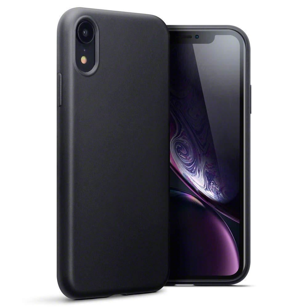 Terrapin Θήκη Σιλικόνης iPhone XR - Black Matte (118-127-001)