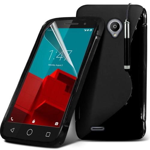 Ημιδιάφανη Θήκη Vodafone Smart Prime 7 (8697) Μαύρο - OEM