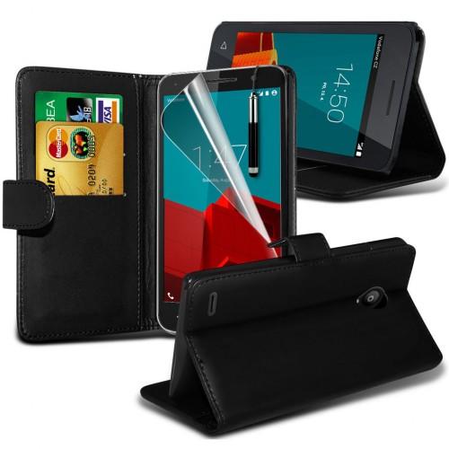 Θήκη Vodafone Smart Prime 7 - Πορτοφόλι (8707) Μαύρο - OEM