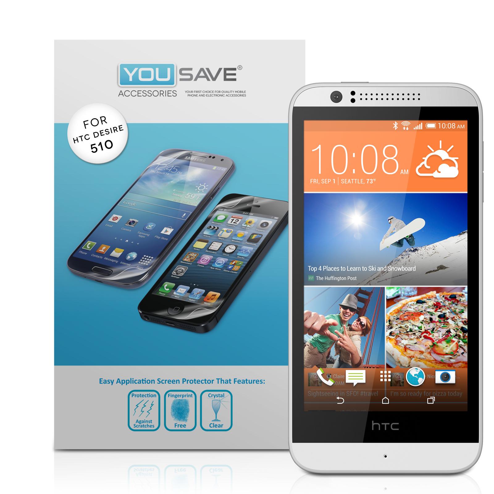Μεμβράνη Προστασίας Οθόνης HTC Desire 510 by Yousave - 3 Τεμάχια (Z552)