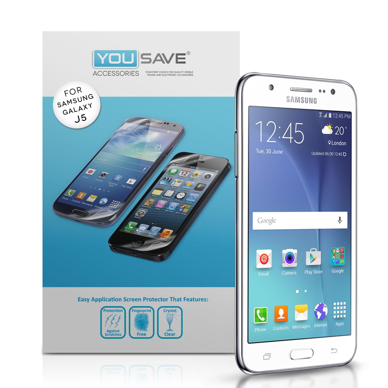 Μεμβράνη Προστασίας Οθόνης Samsung Galaxy J5 (2015) by Yousave - 5 Τεμάχια (Z859)