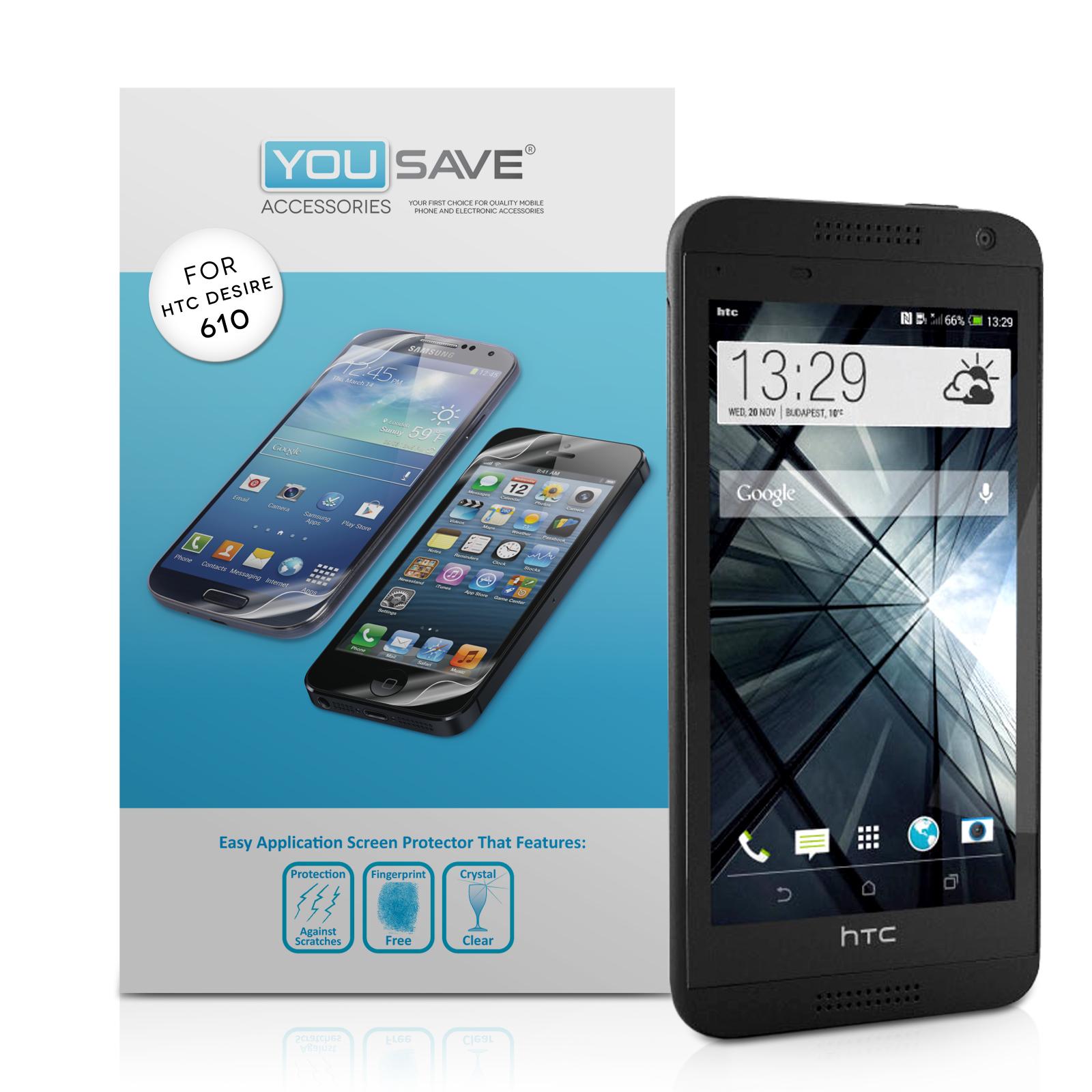 Μεμβράνη Προστασίας Οθόνης HTC Desire 610 by Yousave - 3 Τεμάχια (Z453)