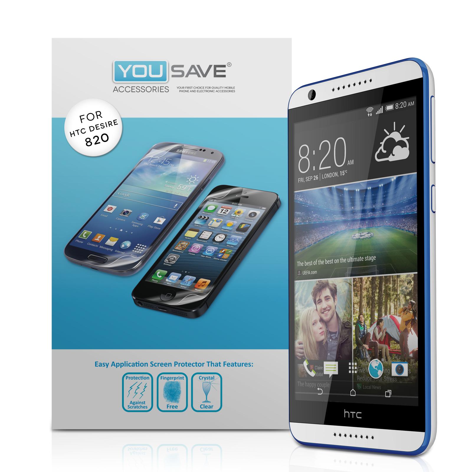 Μεμβράνη Προστασίας Οθόνης HTC Desire 820 by Yousave - 3 Τεμάχια (Z568-D820)