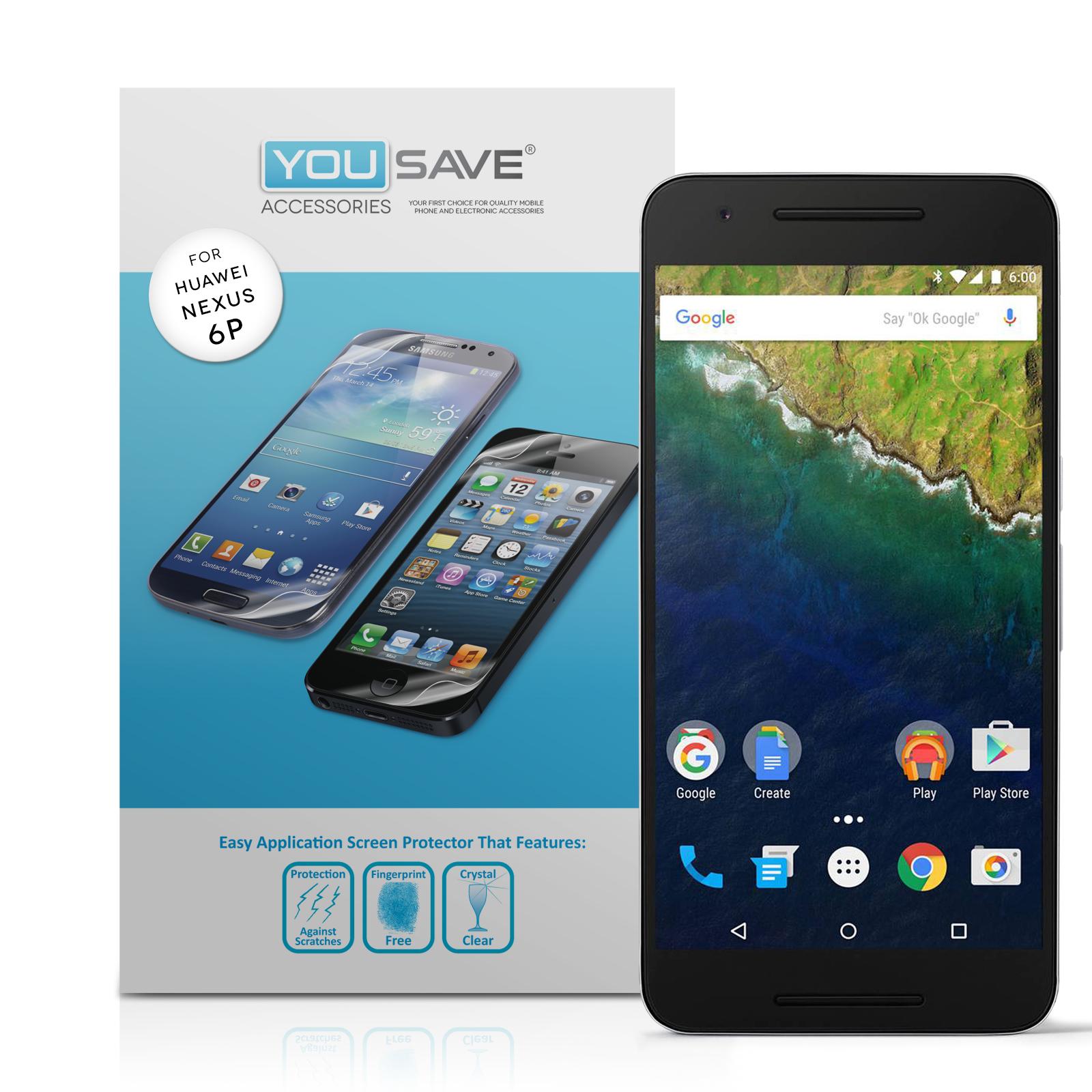 Μεμβράνη Προστασίας Οθόνης Huawei Nexus 6P by Yousave - 5 Τεμάχια (Z070)