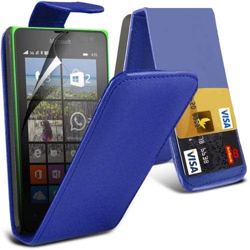 Flip Θήκη Microsoft Lumia 435 - Μπλέ (10749) - OEM
