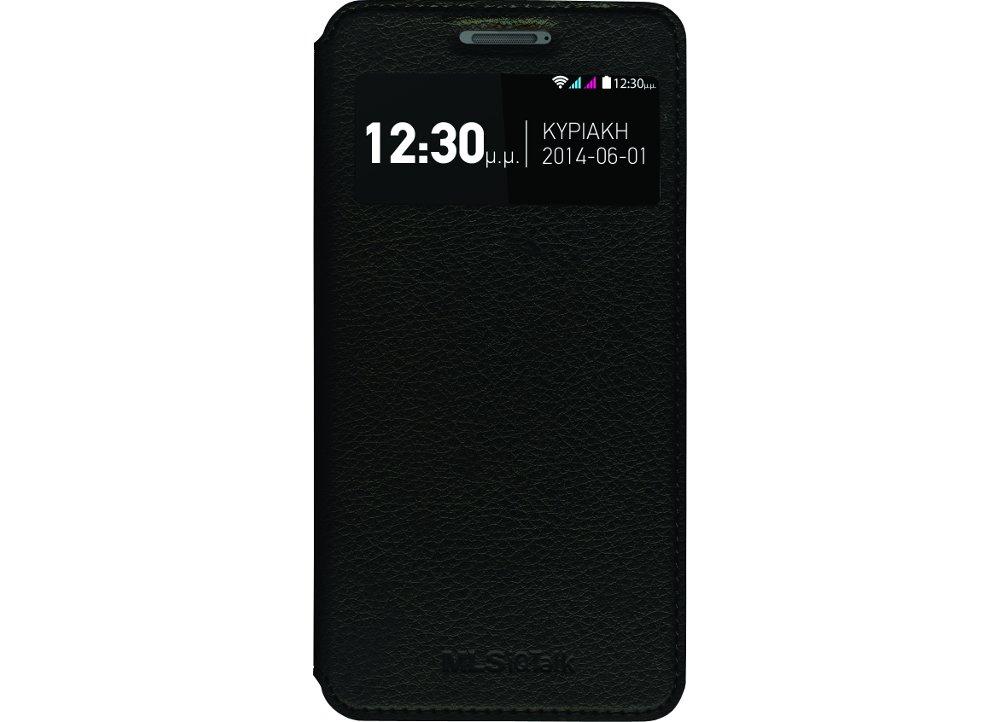 Smart Cover Θήκη MLS iQtalk S8 - Black (11.CC.520.040)