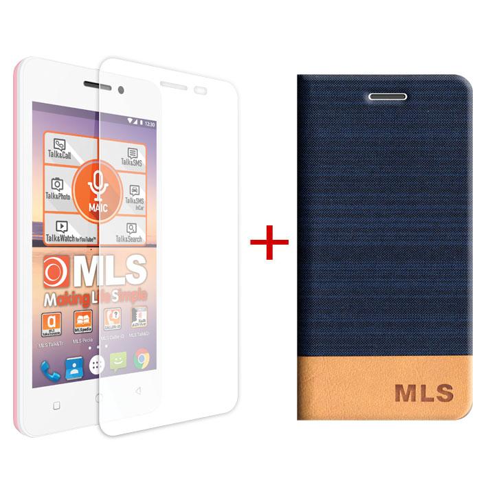 Blue Flip Θήκη MLS Trend 4G + Tempered Glass (32.ML.500.036)