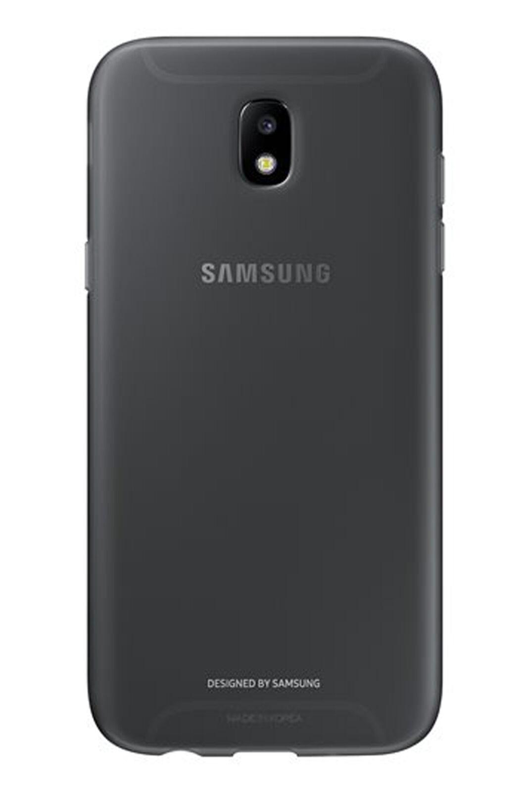 Samsung Official Jelly Cover -  Ημιδιαφανή Θήκη Σιλικόνης Samsung Galaxy J5 2017 - Black (EF-AJ530TBEGWW)