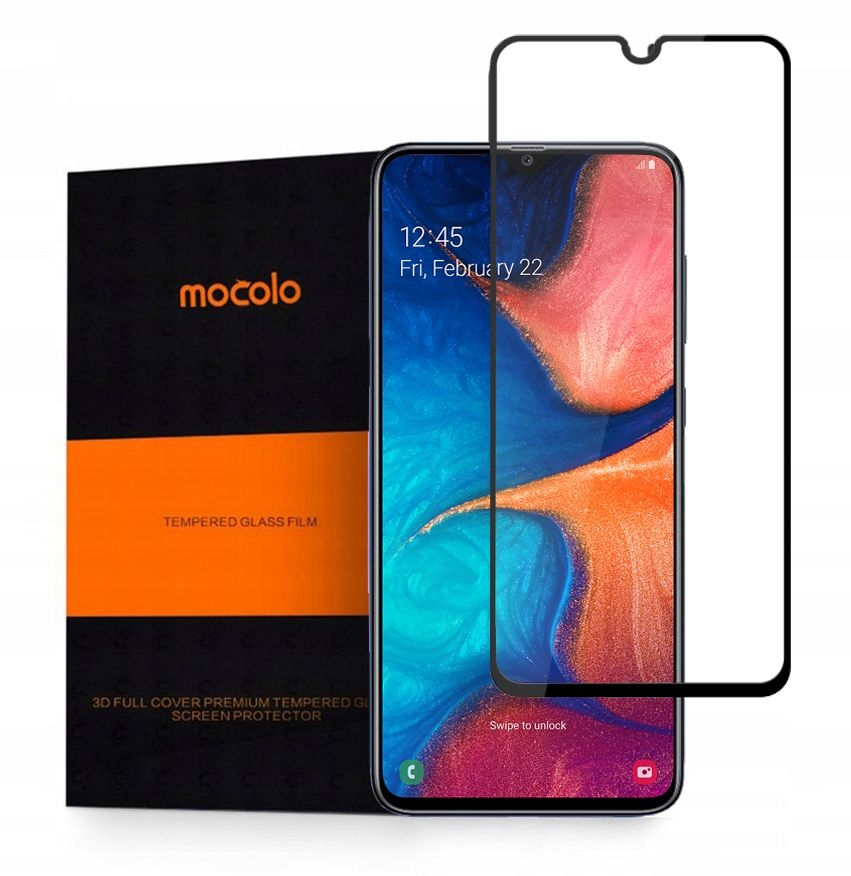 Mocolo Tempered Glass - Fullface Αντιχαρακτικό Γυαλί Samsung Galaxy A20e - Black (SX4209)
