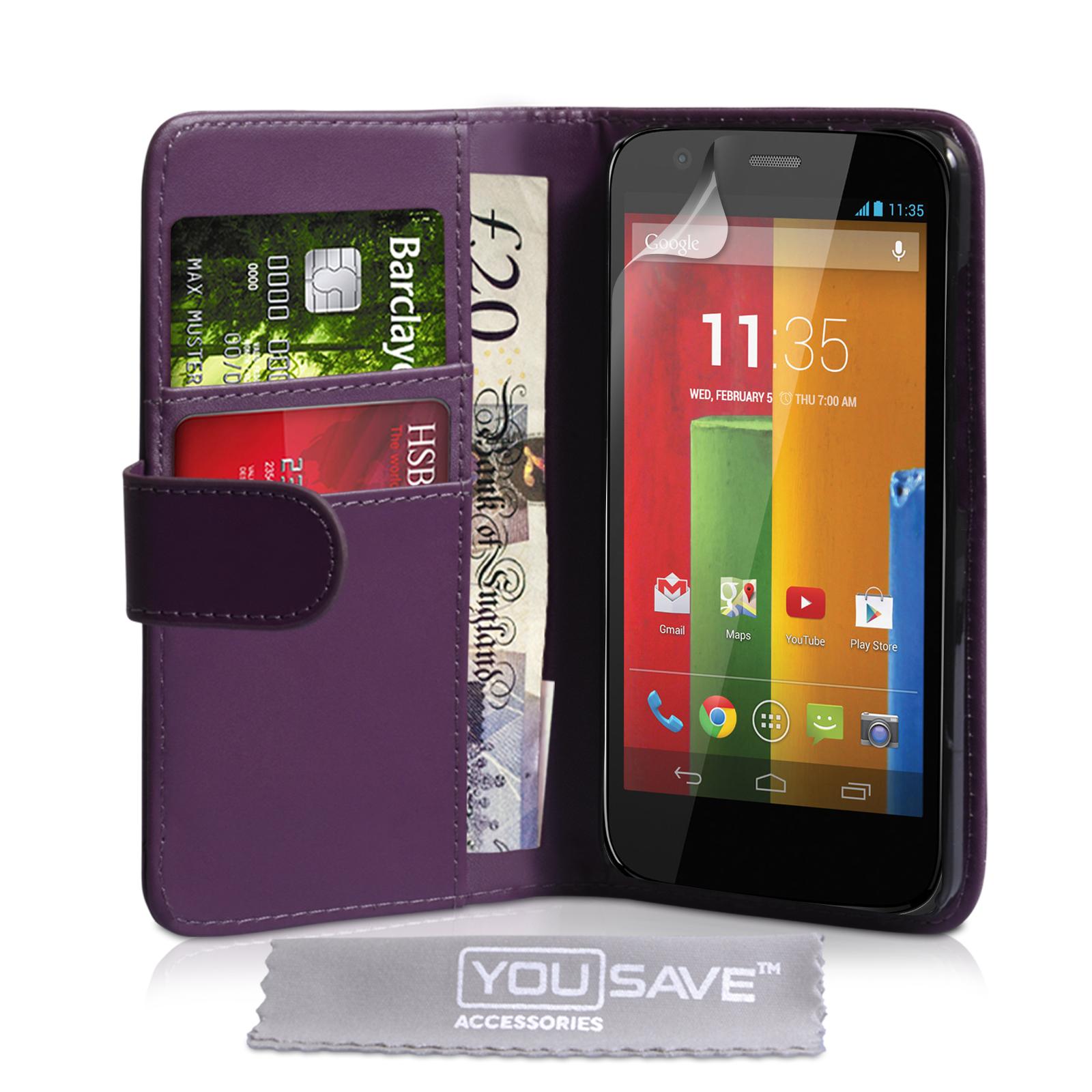 Θήκη Motorola Moto G - Πορτοφόλι by YouSave (Z229)