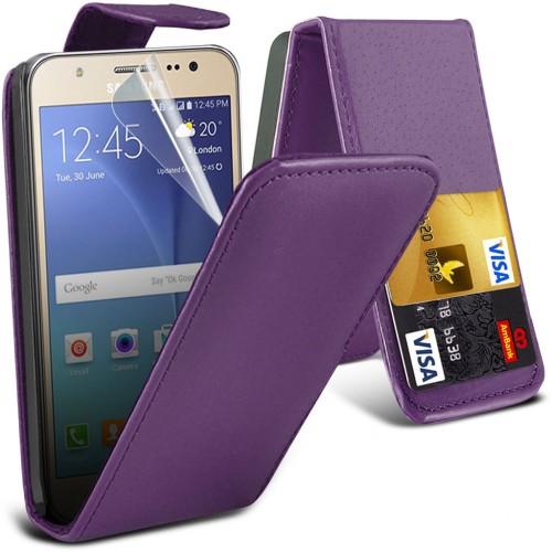 Flip Θήκη Samsung Galaxy J5 (2015) (001-002-057) Μωβ - OEM