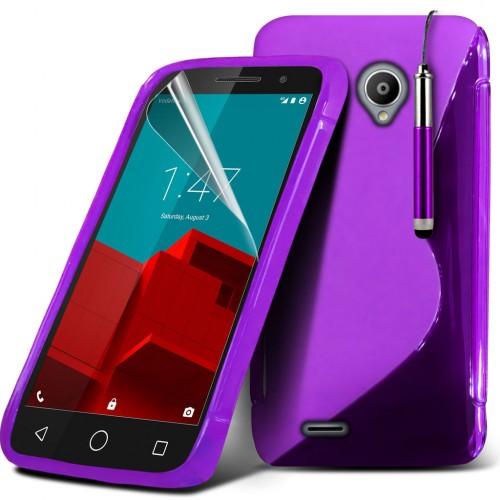 Ημιδιάφανη Θήκη Vodafone Smart First 7 Μωβ - OEM(10760)