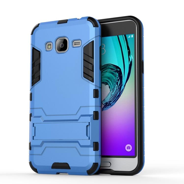 Ανθεκτική Θήκη με Stand Samsung Galaxy J3 (2016) - Blue (9740) - OEM