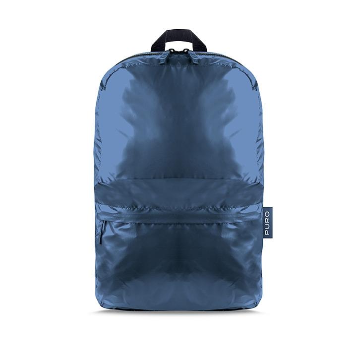Puro Plume Foldable Αναδιπλούμενο Σακίδιο Backpack - Metallic Blue (14273)