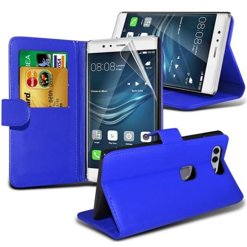 Θήκη Huawei P9 Plus - Πορτοφόλι (8956)  Μπλε - OEM