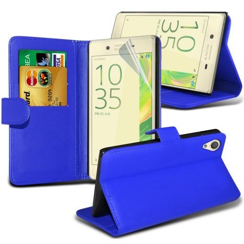 Θήκη Sony Xperia X - Πορτοφόλι (8952) Μπλε - OEM