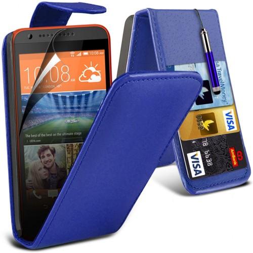 Flip Θήκη HTC Desire 620 (001-028-626) Μπλε - OEM