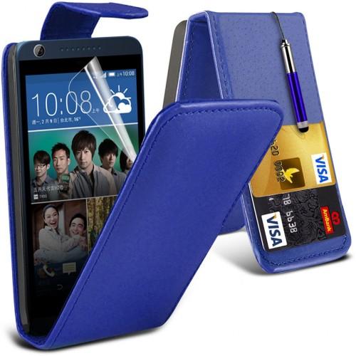 Flip Θήκη HTC Desire 626 (001-028-029) Μπλε - OEM