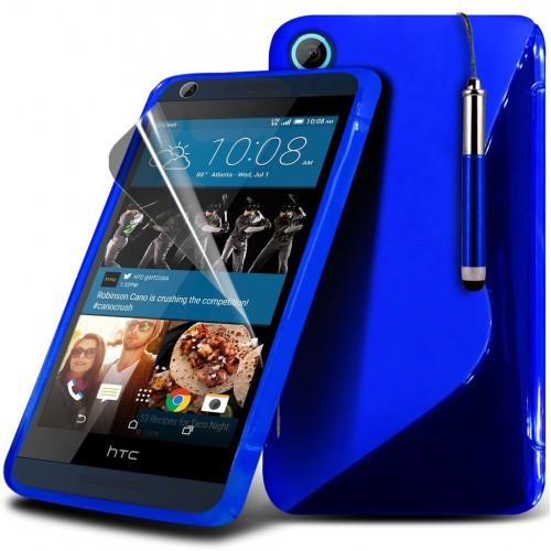 Ημιδιάφανη Θήκη HTC Desire 626 (018-028-027) Μπλε - OEM