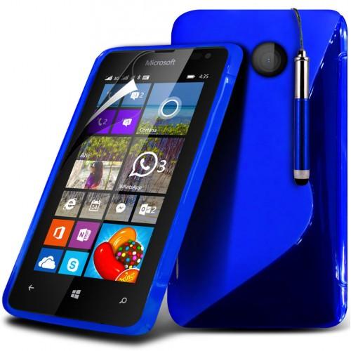 Θήκη Σιλικόνης Microsoft Lumia 435 (018-116-435) Μπλε - OEM