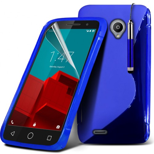 Ημιδιάφανη Θήκη Vodafone Smart Prime 6 (018-004-601) Μπλε - OEM