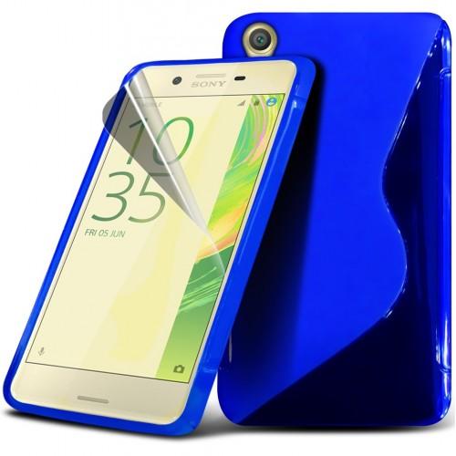 Θήκη S-Line  Σιλικόνης Sony Xperia X (8948) Μπλε - OEM
