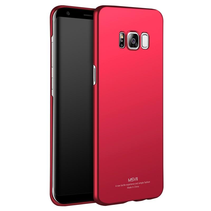 MSVII Super Slim Σκληρή Θήκη PC Samsung Galaxy S8 - Red (I2-03)