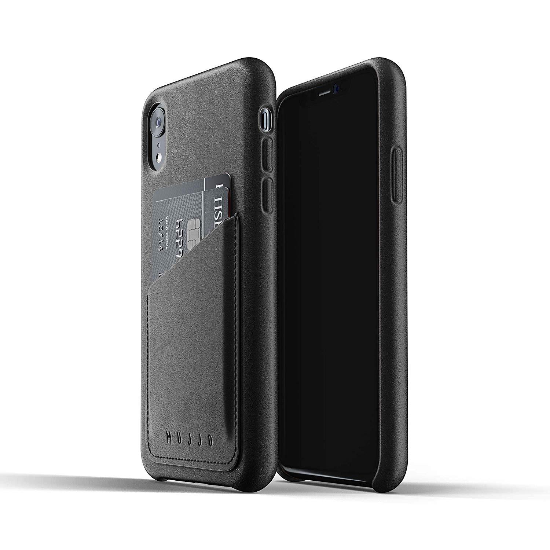 MUJJO Full Leather Wallet Case - Δερμάτινη Θήκη-Πορτοφόλι iPhone XR - Black (MUJJO-CS-104-BK)