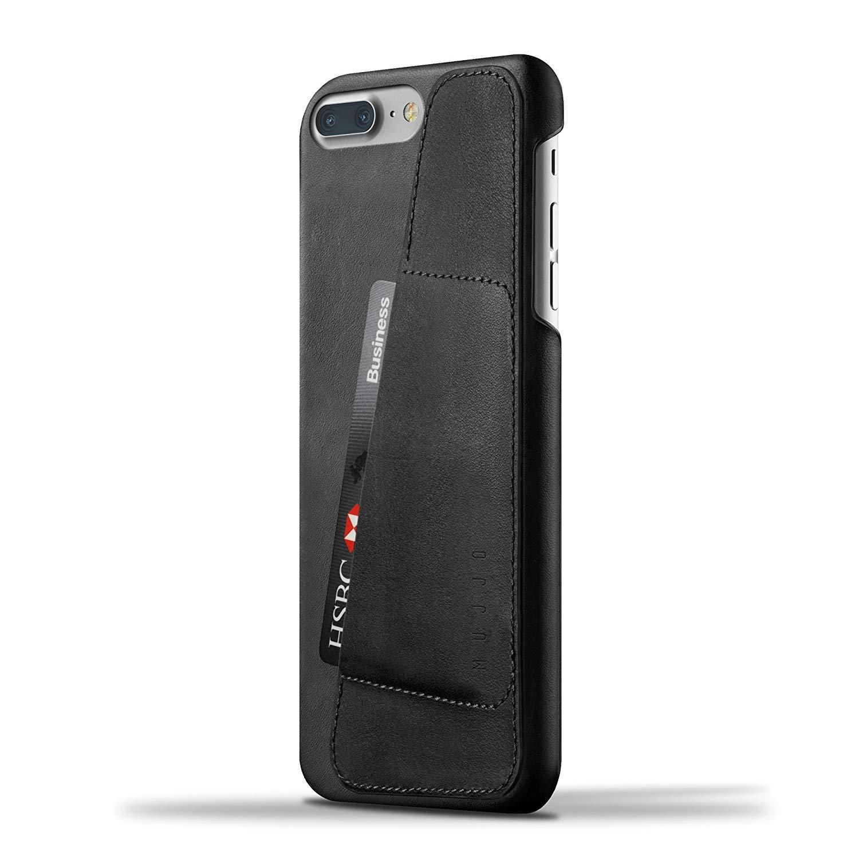 MUJJO Full Leather Wallet Case - Δερμάτινη Θήκη-Πορτοφόλι iPhone 8 Plus / 7 Plus - Black (mujjo-cs-071-bk)