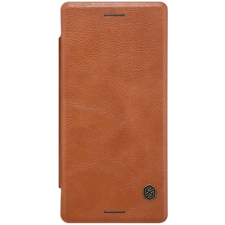 Nillkin Qin Δερμάτινη Θήκη Sony Xperia X - Πορτοφόλι (9444) - Brown