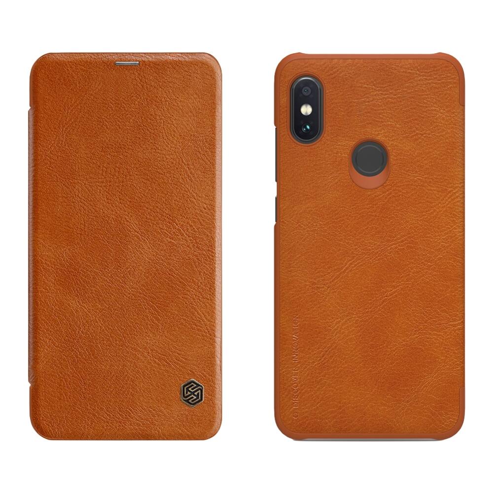 Nillkin Qin Θήκη-Πορτοφόλι Xiaomi Redmi Note 6 Pro - Brown (44546)