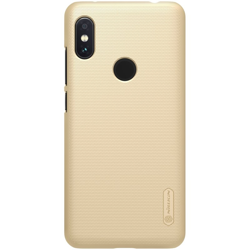 Nillkin Θήκη Super Frosted Shield Xiaomi Redmi Note 6 Pro & Kickstand - Gold (44543)
