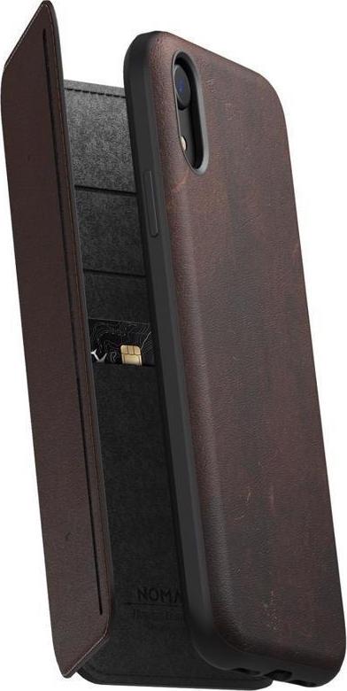 Nomad Δερμάτινη Rugged Tri-Folio Θήκη - Πορτοφόλι iPhone XR - Brown (NM21QR0H50)