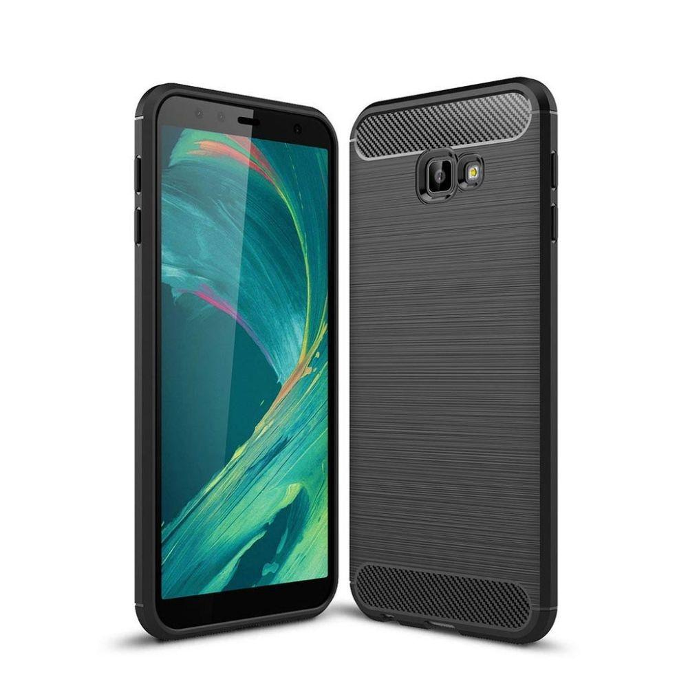 Θήκη TPU Carbon Samsung Galaxy J4 Plus 2018 - Black (14596) - OEM